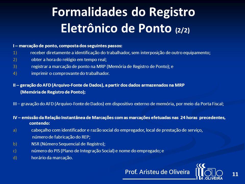 Formalidades do Registro Eletrônico de Ponto (2/2)