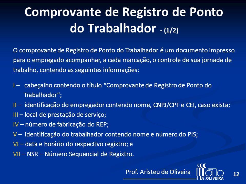 Comprovante de Registro de Ponto do Trabalhador - (1/2)