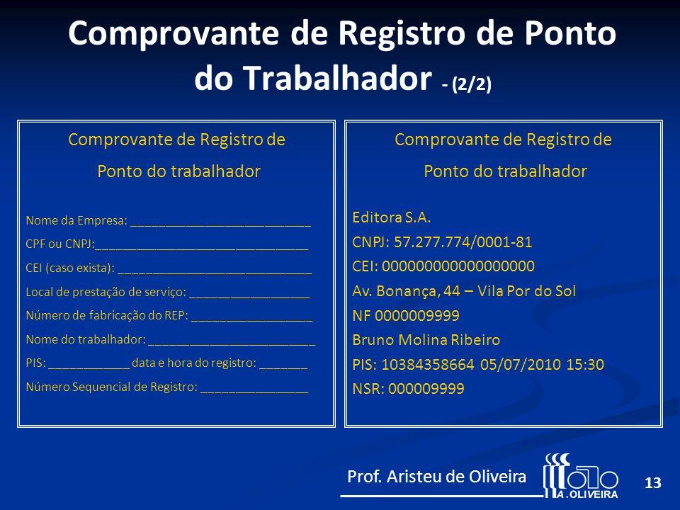 Comprovante de Registro de Ponto do Trabalhador - (2/2)