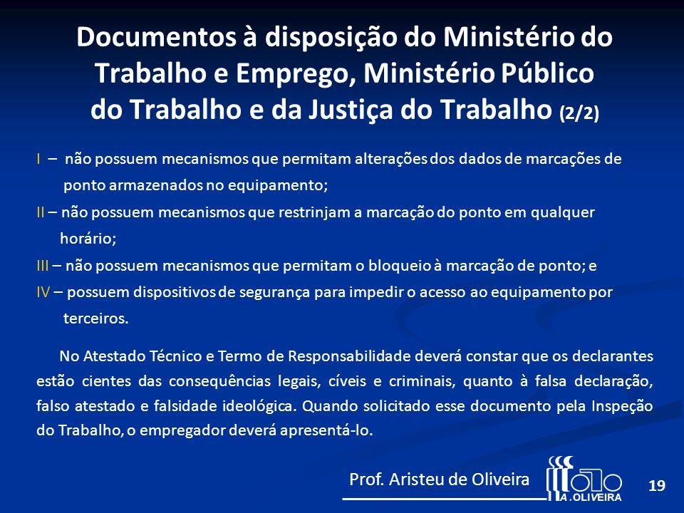 Documentos à disposição do Ministério do Trabalho e Emprego, Ministério Público do Trabalho e da Justiça do Trabalho (2/2)