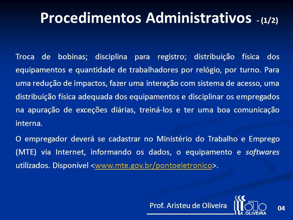 Procedimentos Administrativos - (1/2)