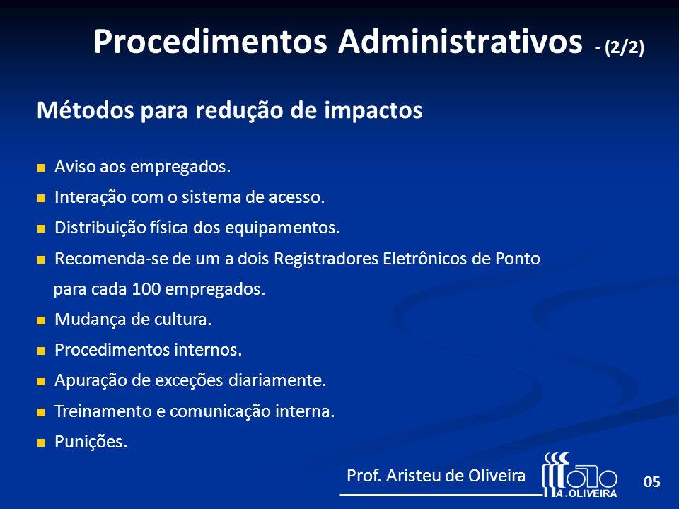 Procedimentos Administrativos - (2/2)