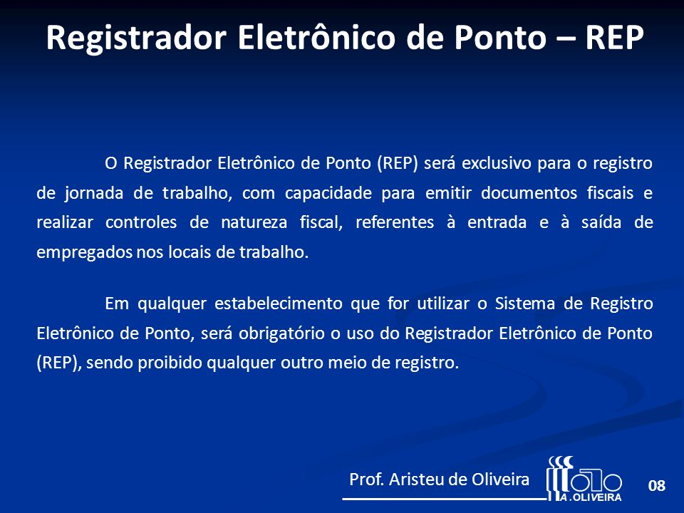 Registrador Eletrônico de Ponto – REP