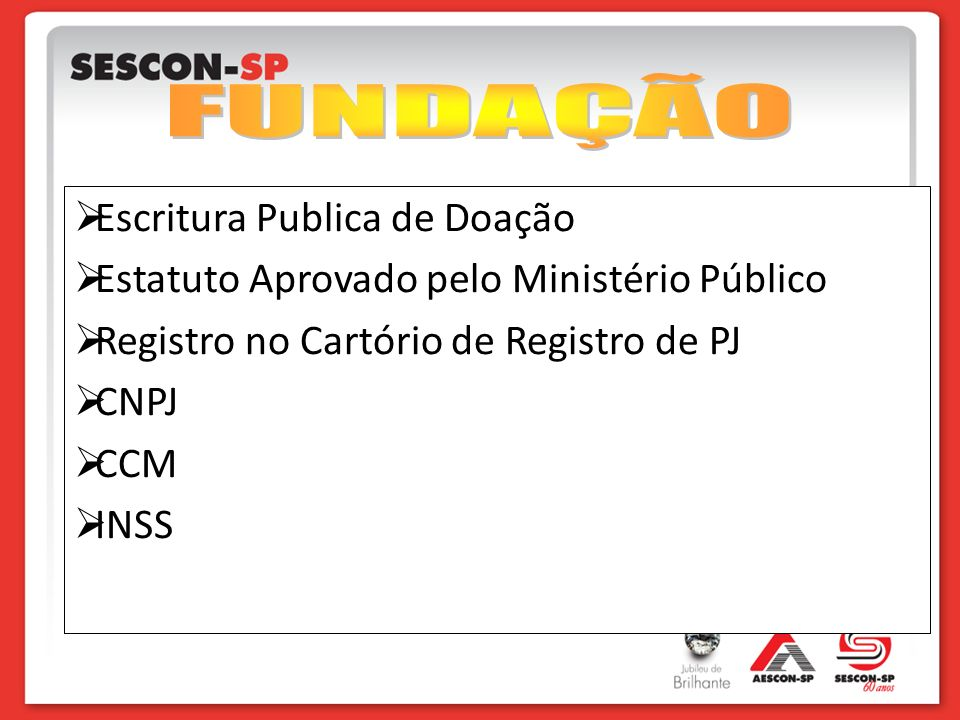 FUNDAÇÃO Escritura Publica de Doação
