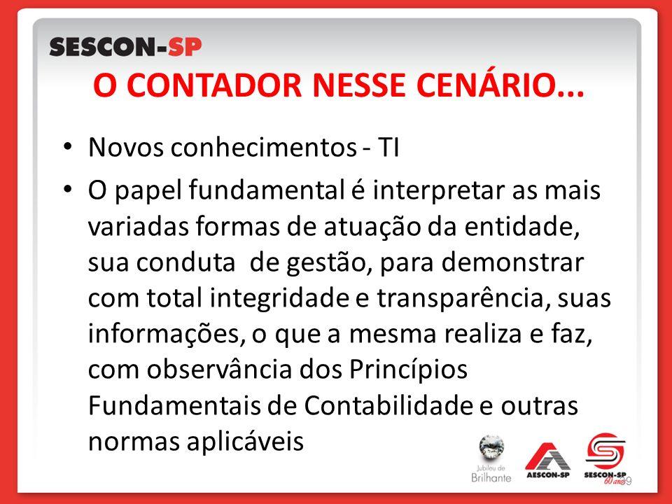 O CONTADOR NESSE CENÁRIO...