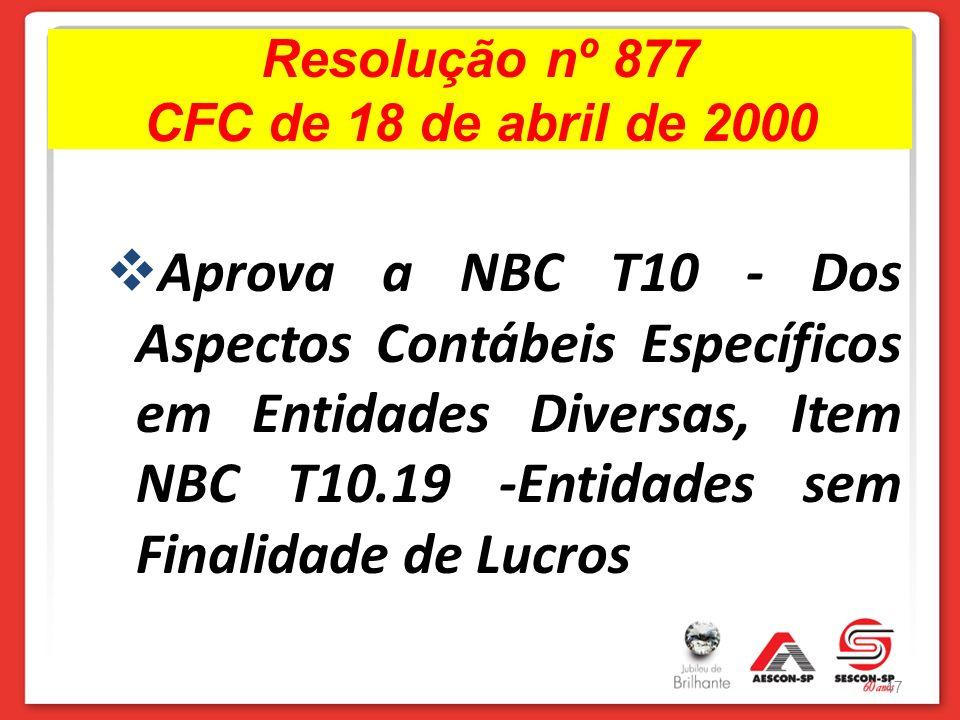 Resolução nº 877 CFC de 18 de abril de 2000