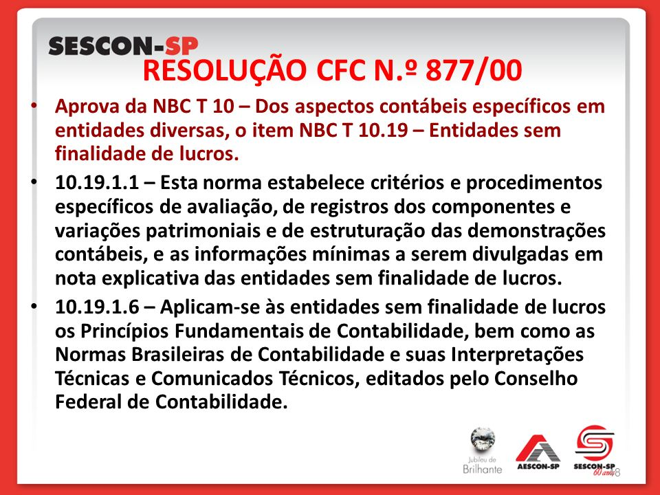 RESOLUÇÃO CFC N.º 877/00