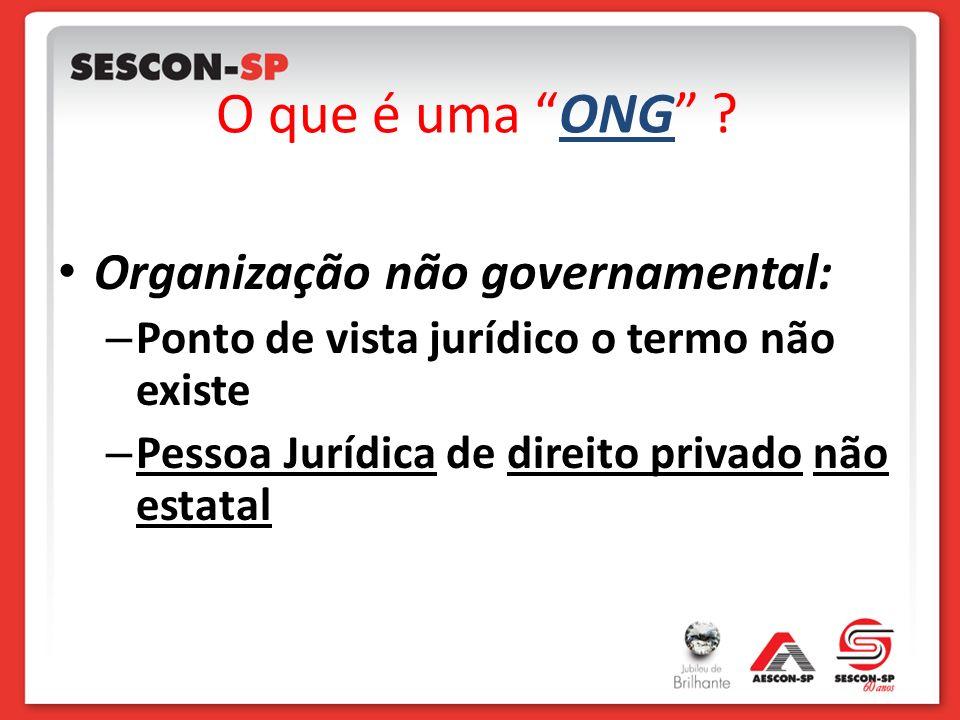 O que é uma ONG Organização não governamental: