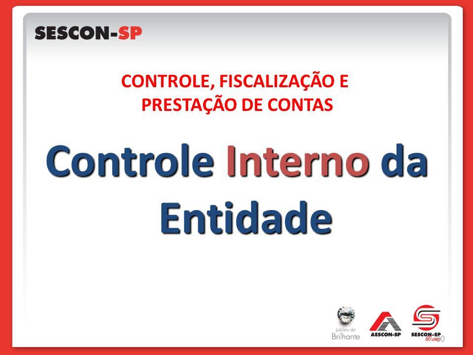 CONTROLE, FISCALIZAÇÃO E Controle Interno da Entidade