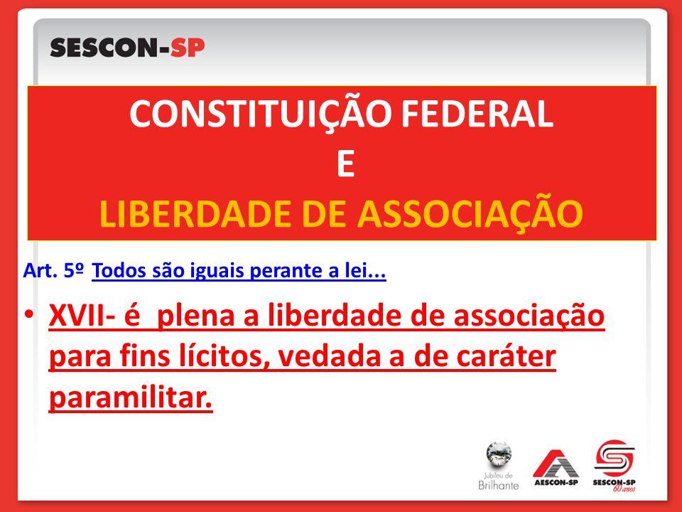 CONSTITUIÇÃO FEDERAL E LIBERDADE DE ASSOCIAÇÃO