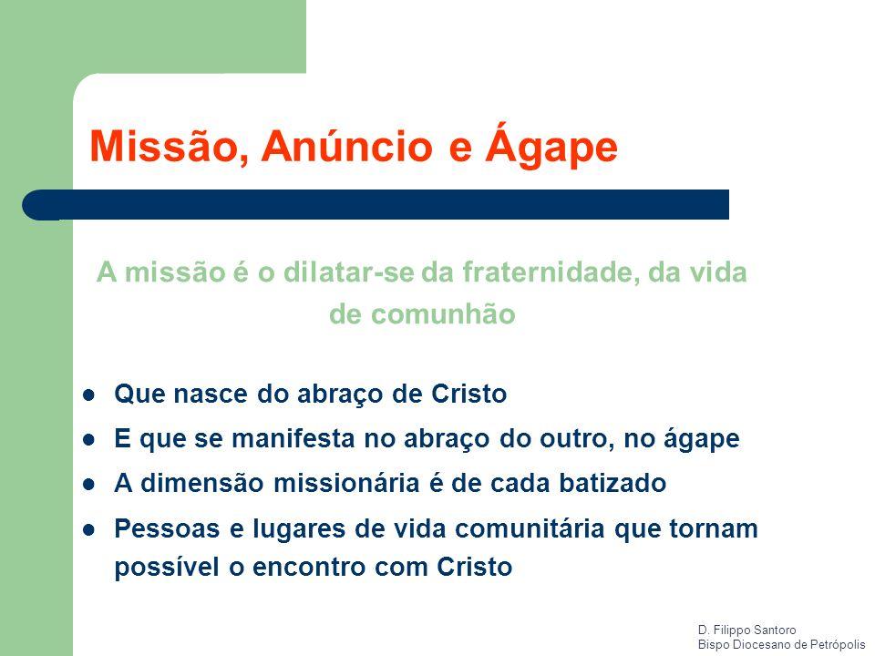 A missão é o dilatar-se da fraternidade, da vida de comunhão