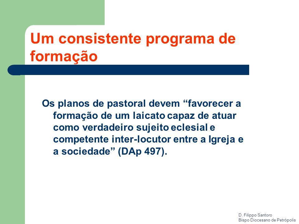 Um consistente programa de formação