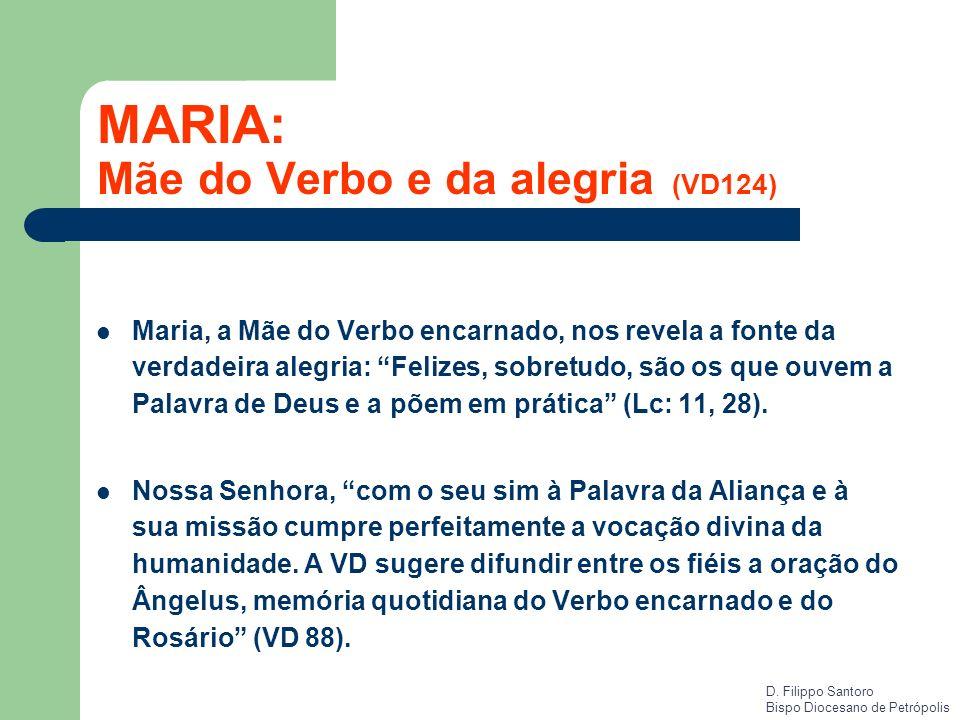 MARIA: Mãe do Verbo e da alegria (VD124)