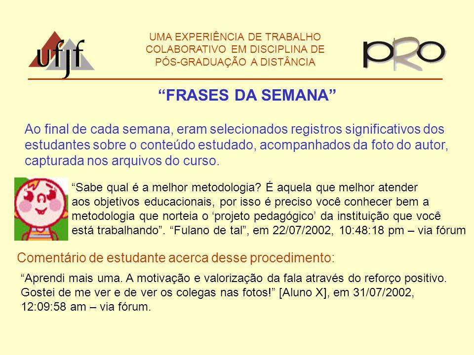 UMA EXPERIÊNCIA DE TRABALHO COLABORATIVO EM DISCIPLINA DE