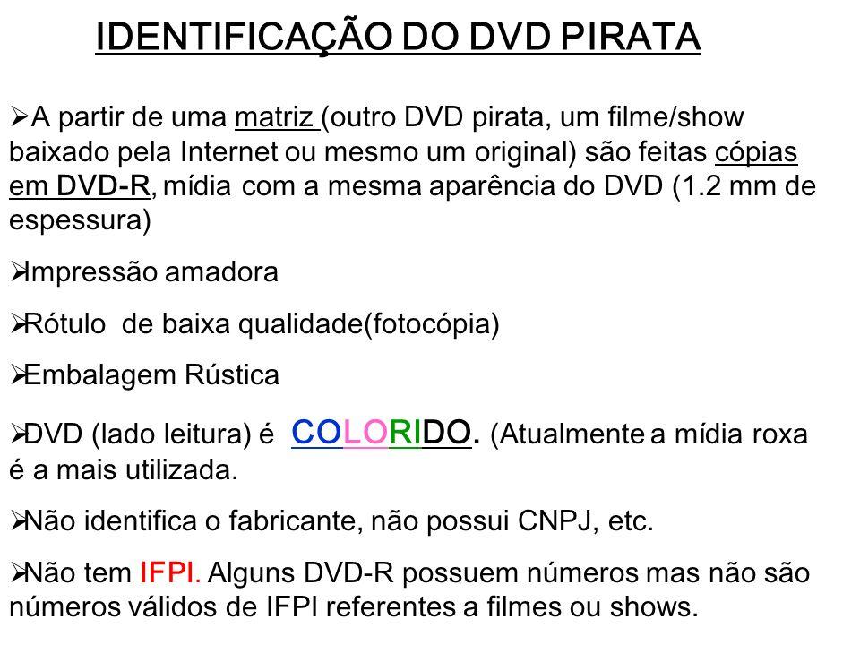 IDENTIFICAÇÃO DO DVD PIRATA