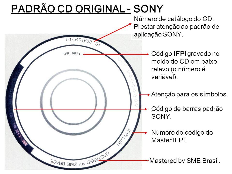 PADRÃO CD ORIGINAL - SONY