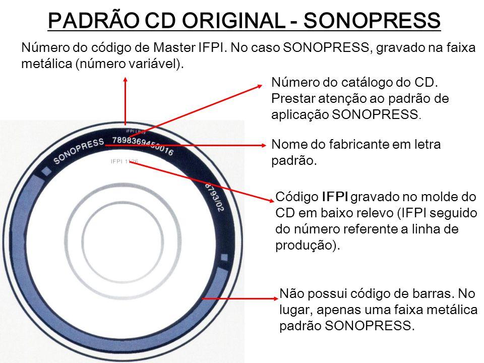 PADRÃO CD ORIGINAL - SONOPRESS
