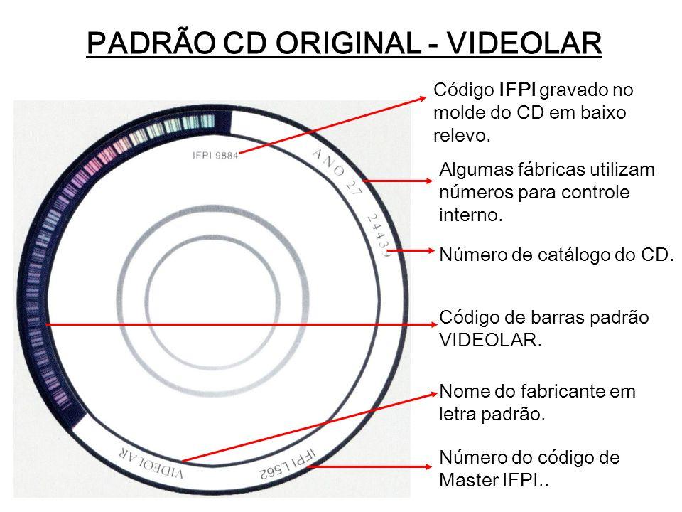 PADRÃO CD ORIGINAL - VIDEOLAR
