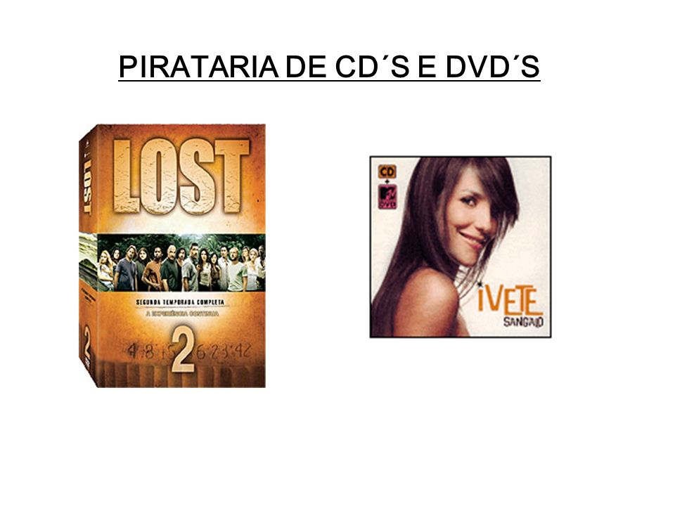 PIRATARIA DE CD´S E DVD´S