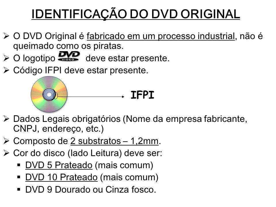 IDENTIFICAÇÃO DO DVD ORIGINAL