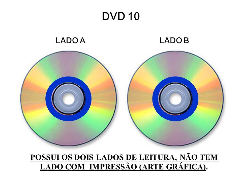 DVD 10 LADO A LADO B POSSUI OS DOIS LADOS DE LEITURA, NÃO TEM LADO COM IMPRESSÃO (ARTE GRÁFICA).