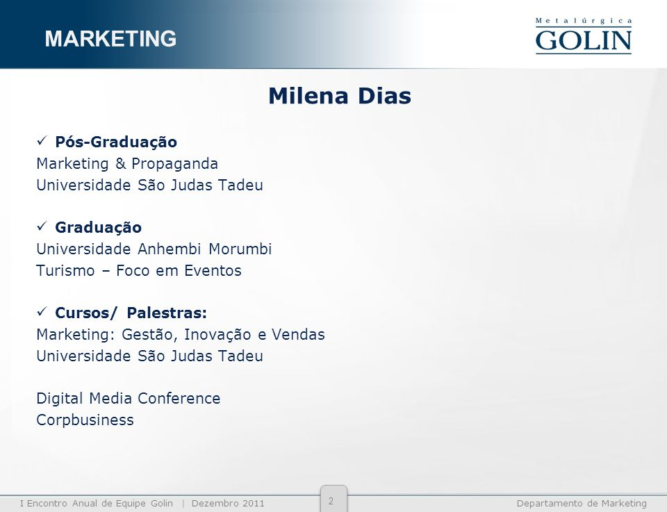 MARKETING Milena Dias Pós-Graduação Marketing & Propaganda