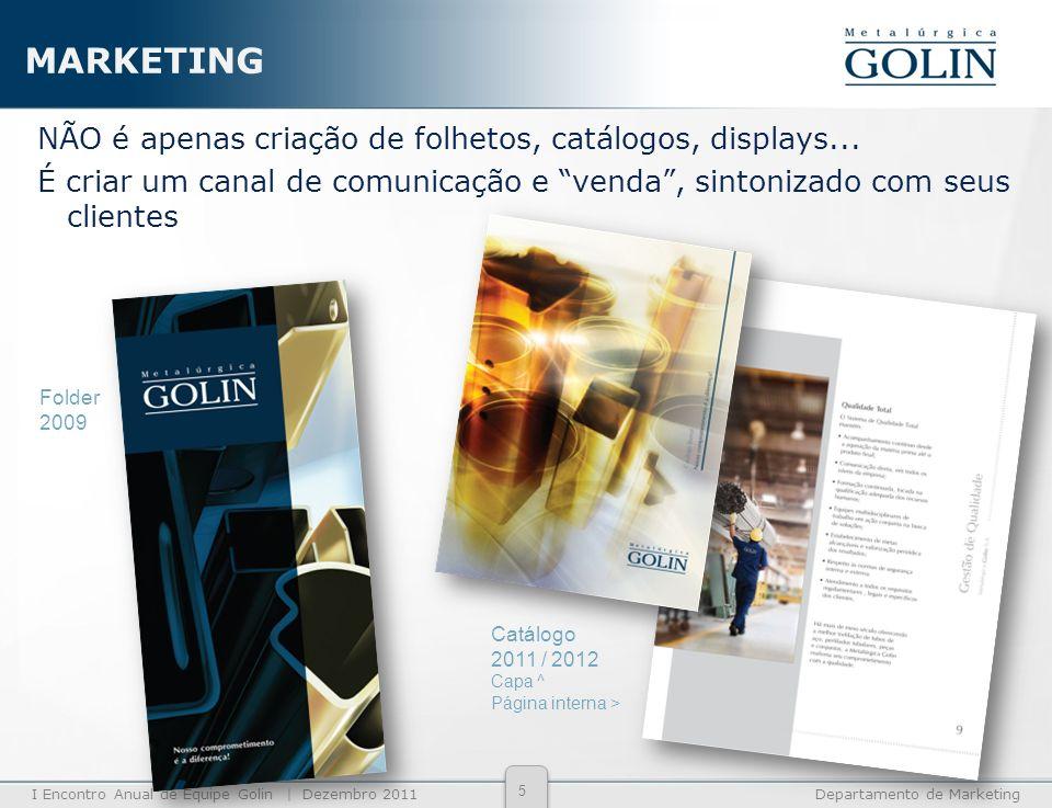 MARKETING NÃO é apenas criação de folhetos, catálogos, displays... É criar um canal de comunicação e venda , sintonizado com seus clientes