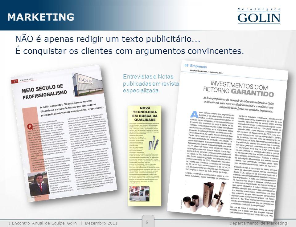 MARKETING NÃO é apenas redigir um texto publicitário... É conquistar os clientes com argumentos convincentes.