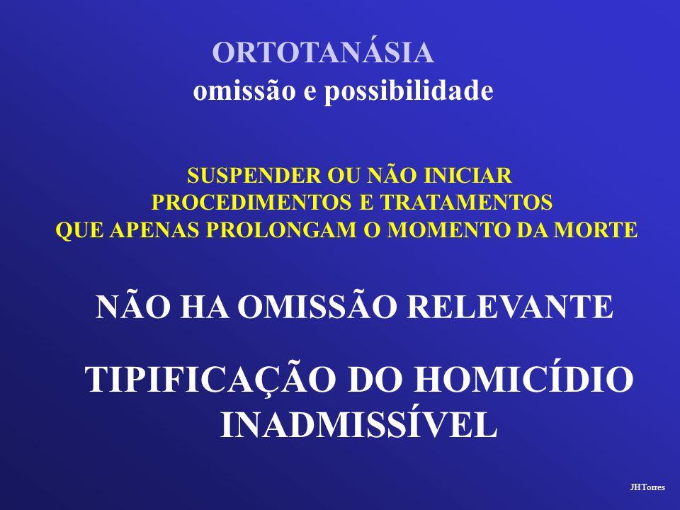 TIPIFICAÇÃO DO HOMICÍDIO INADMISSÍVEL
