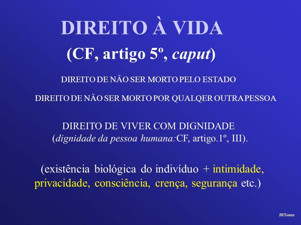 (CF, artigo 5º, caput) DIREITO À VIDA