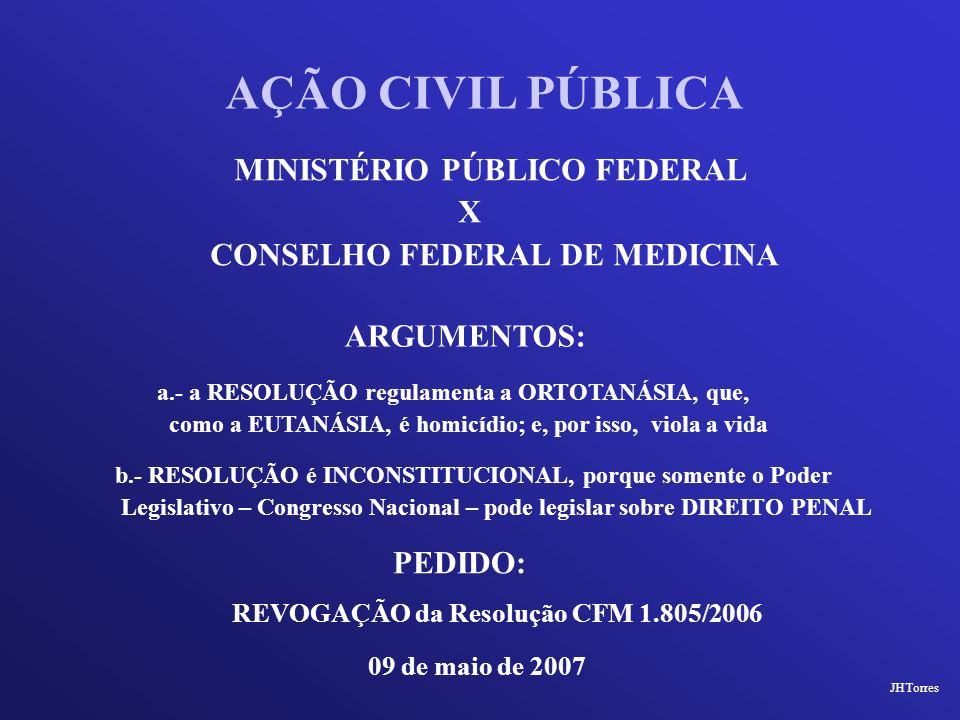AÇÃO CIVIL PÚBLICA MINISTÉRIO PÚBLICO FEDERAL X