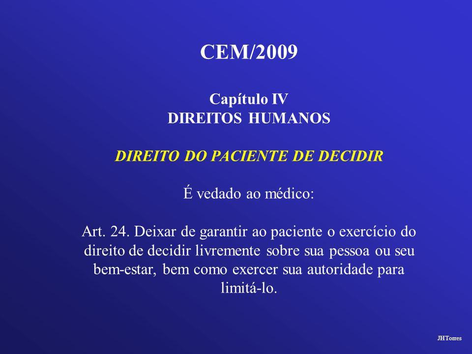 DIREITO DO PACIENTE DE DECIDIR