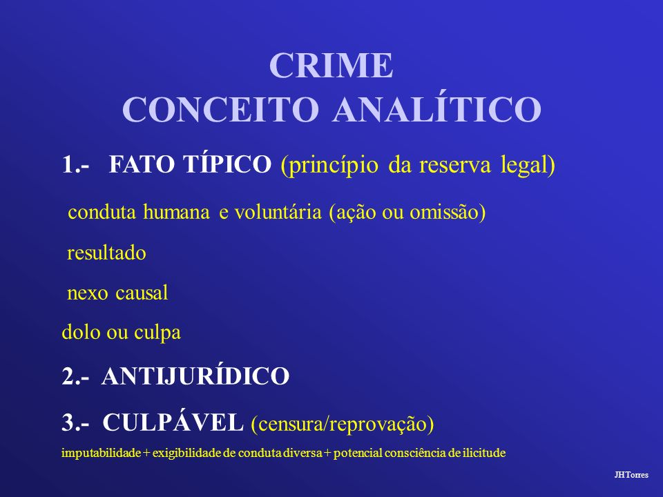 CRIME CONCEITO ANALÍTICO