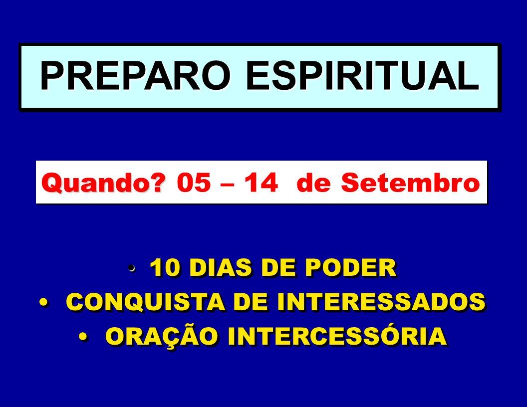 CONQUISTA DE INTERESSADOS