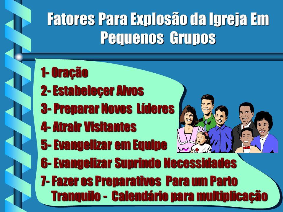 Fatores Para Explosão da Igreja Em Pequenos Grupos