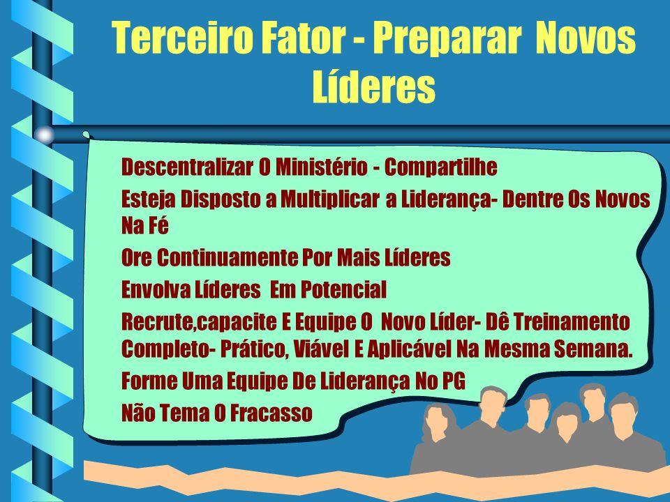 Terceiro Fator - Preparar Novos Líderes