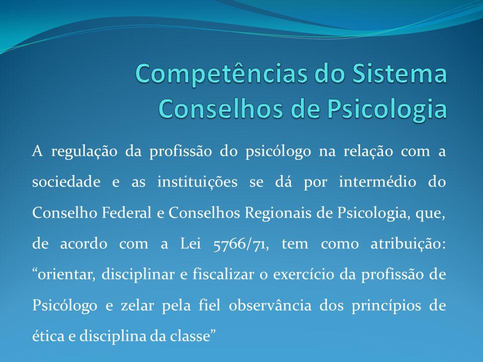 Competências do Sistema Conselhos de Psicologia