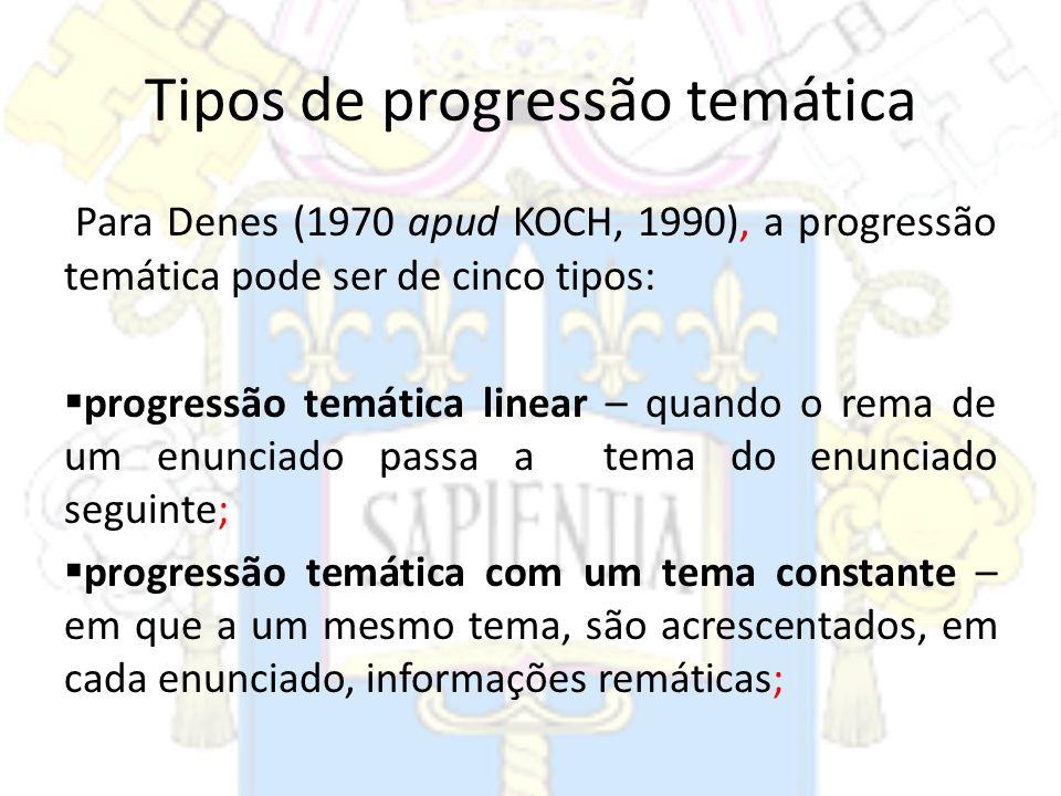 Tipos de progressão temática