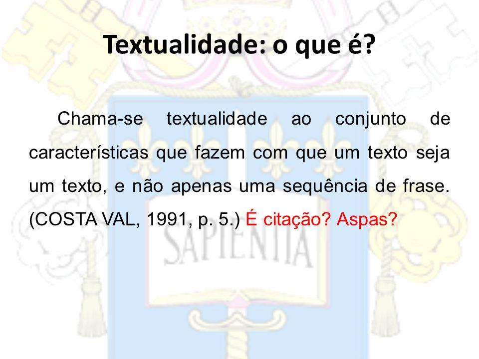 Textualidade: o que é