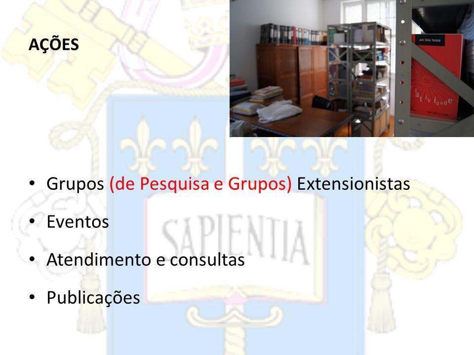 Grupos (de Pesquisa e Grupos) Extensionistas Eventos