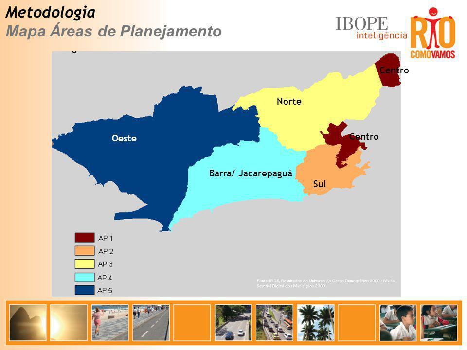 Mapa Áreas de Planejamento
