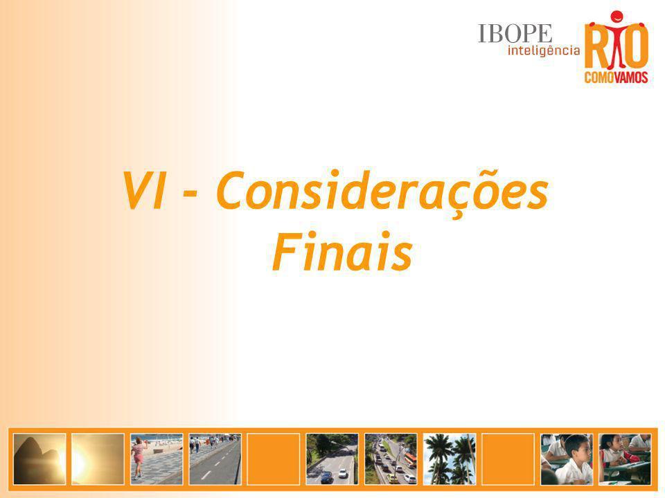 VI - Considerações Finais