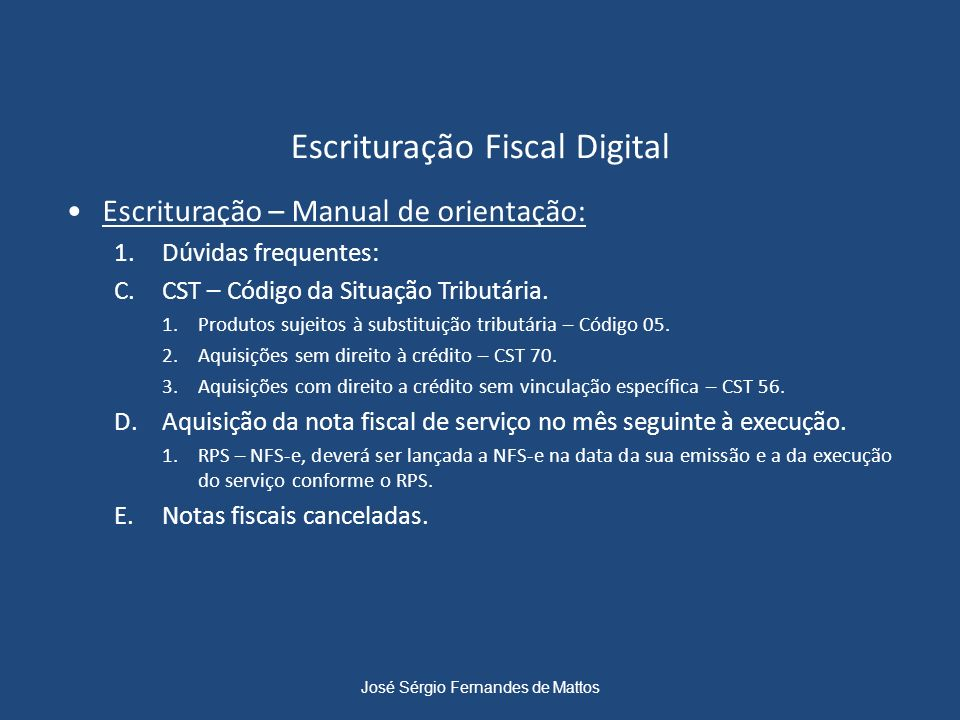 Escrituração Fiscal Digital
