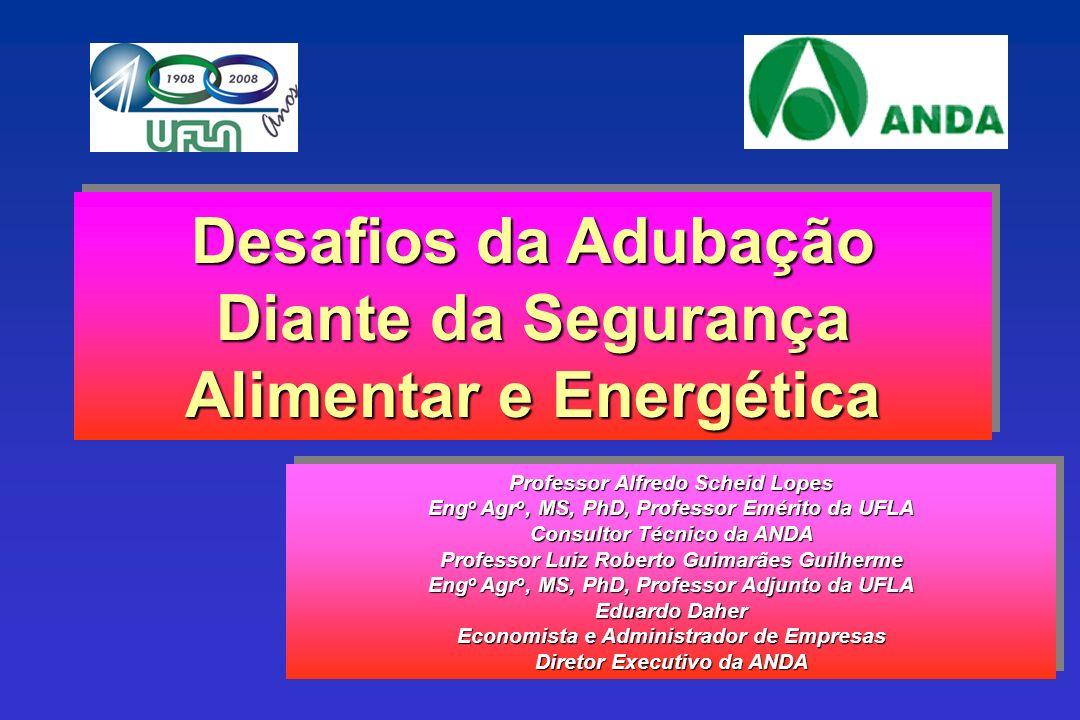 Desafios da Adubação Diante da Segurança Alimentar e Energética