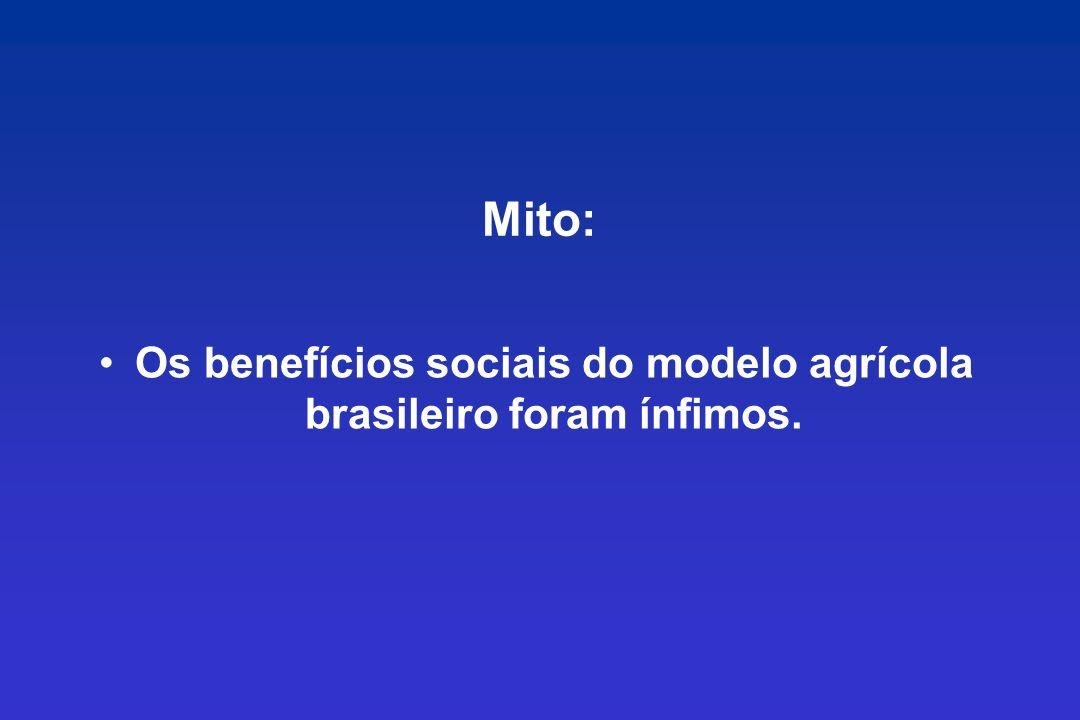 Os benefícios sociais do modelo agrícola brasileiro foram ínfimos.