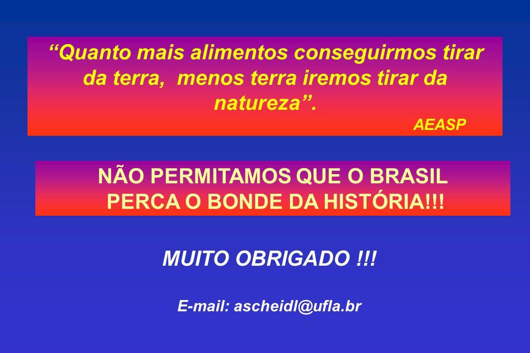 NÃO PERMITAMOS QUE O BRASIL PERCA O BONDE DA HISTÓRIA!!!