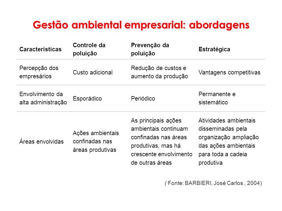 Gestão ambiental empresarial: abordagens