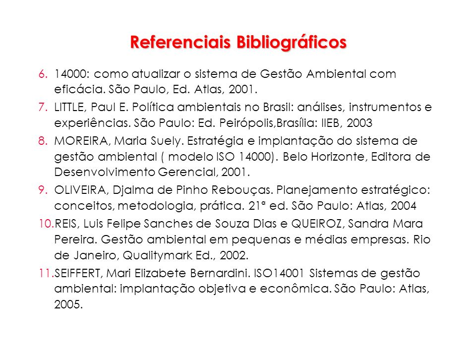 Referenciais Bibliográficos