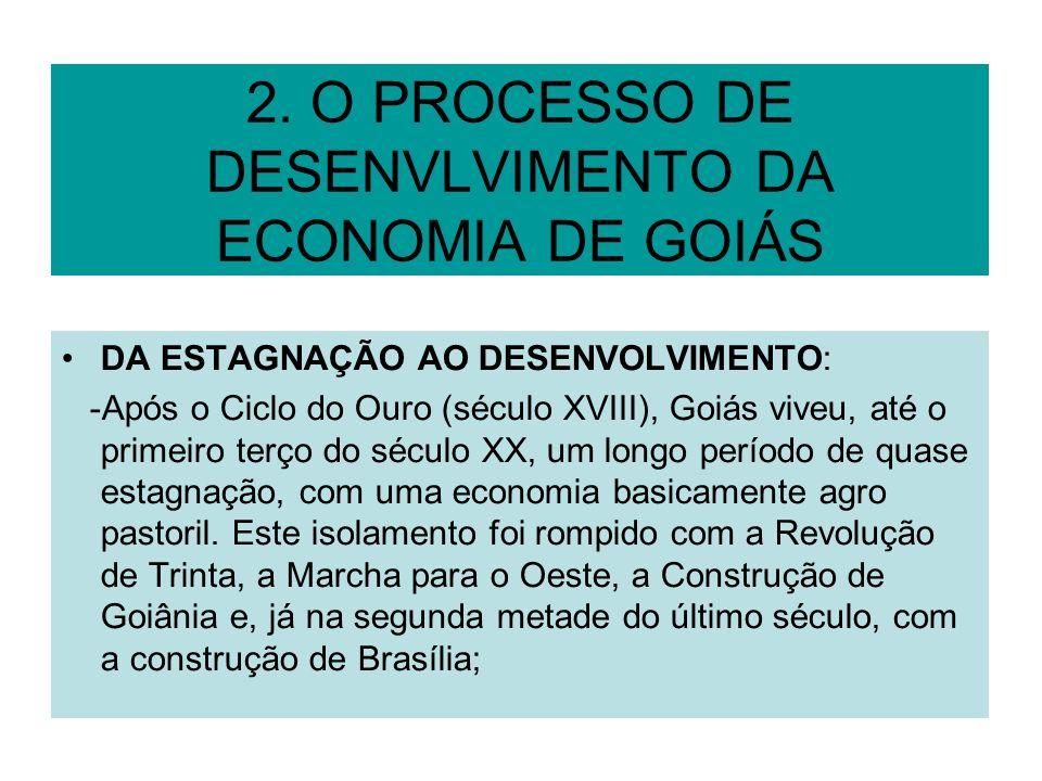 2. O PROCESSO DE DESENVLVIMENTO DA ECONOMIA DE GOIÁS