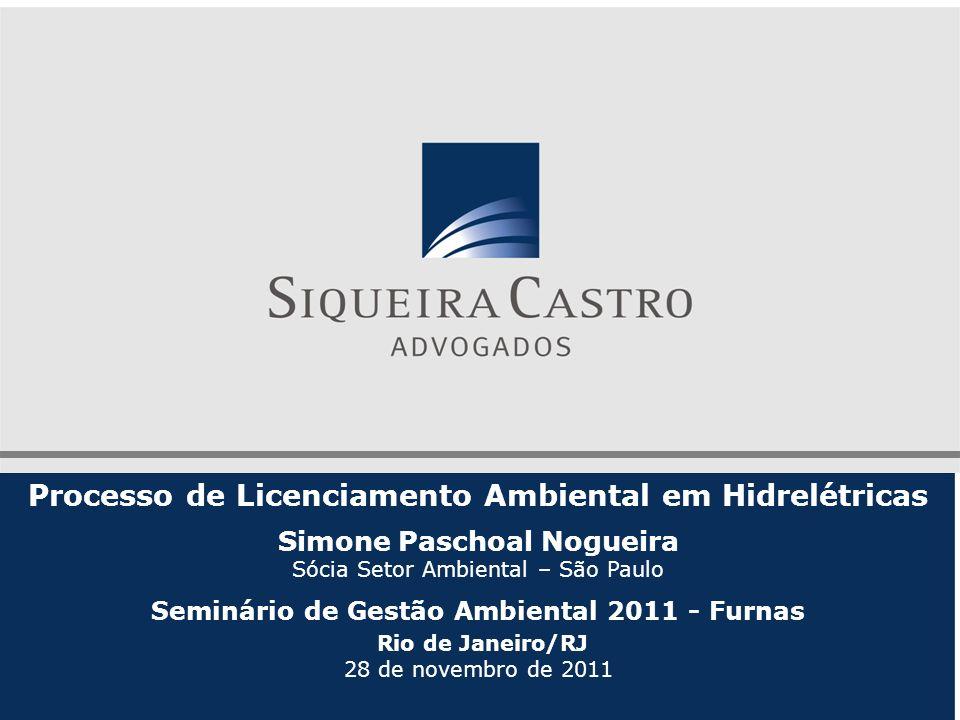 Processo de Licenciamento Ambiental em Hidrelétricas